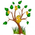 Vector tree with money